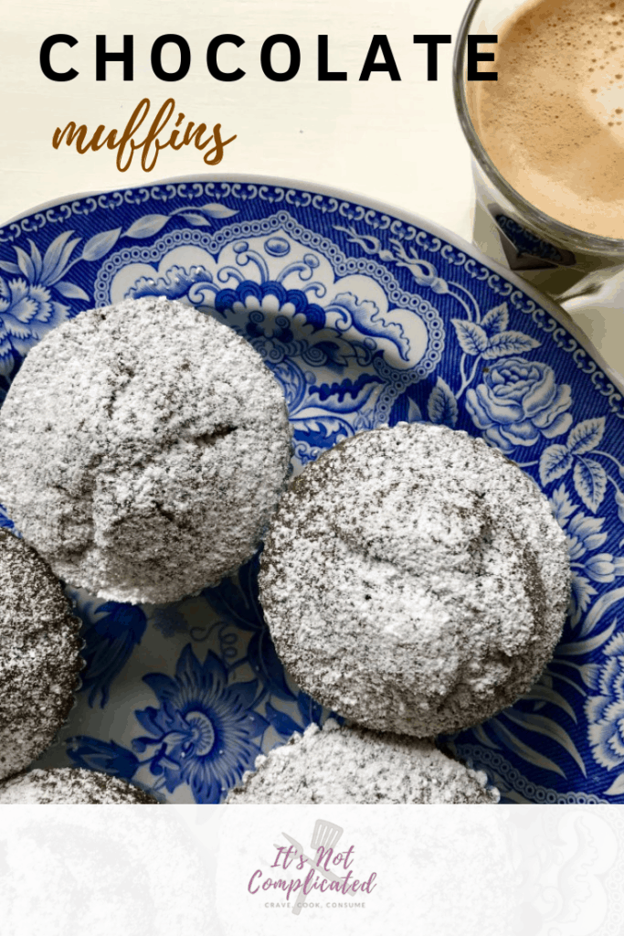 Chocolate Muffins   It's Not Complicated #muffins #chocolate #chocolatemuffins #dessert #recipes #chocolaterecipes