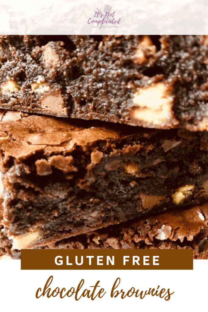 Gluten Free Chocolate Brownies - It's Not Complicated Recipes #glutenfree #brownies #chocolatebrownies #glutenfreechocolatebrownies #glutenfreedessert #dessrts #deliciousglutenfree