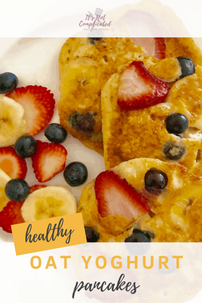 Healthy Oat Yoghurt Pancakes - It's Not Complicated Recipes #glutenfree #pancakes #healthy #healthybreakfast