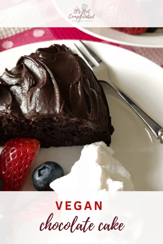 Vegan Chocolate Cake - It's Not Complicated Recipes #vegan #veganrecipes #veganchocolatecake #veganfood #chocolate #chocolatecake #vegandesserts