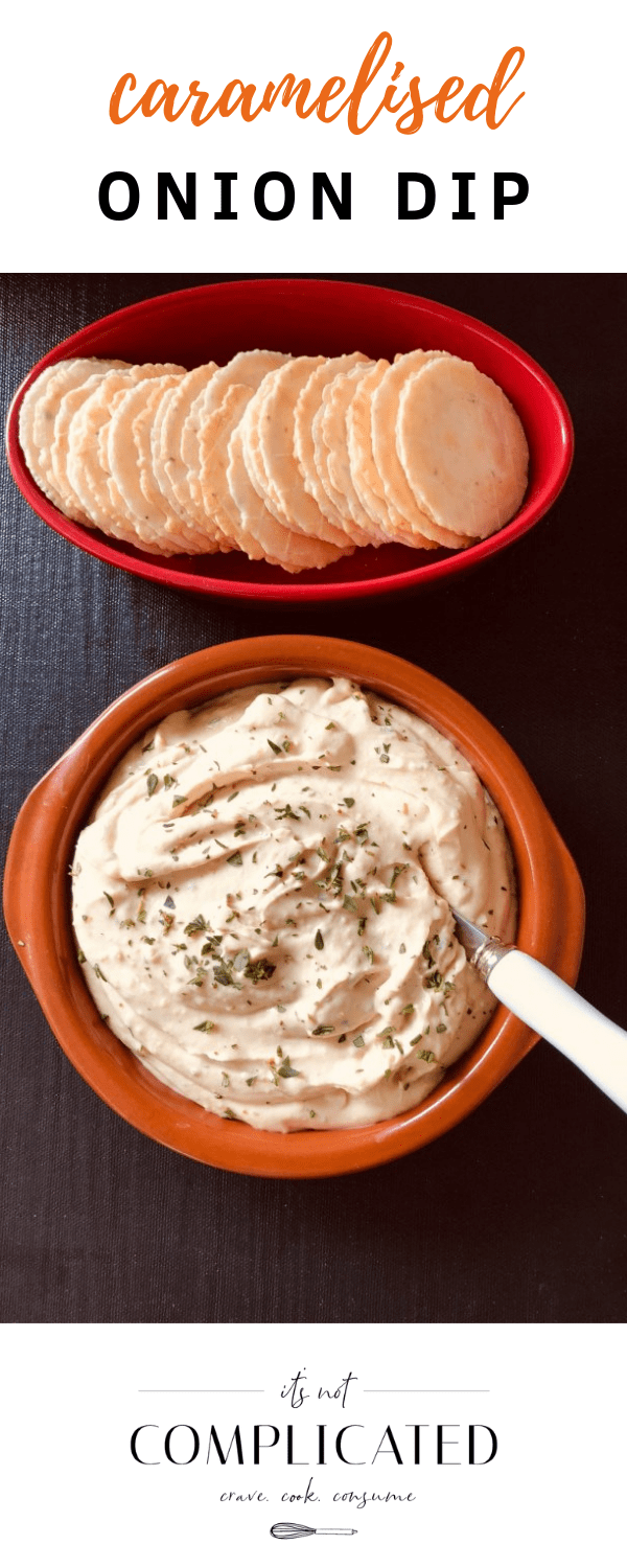 Party Food Caramelised Onion Dip - It's Not Complicated Recipes #partyfood #sharefood #dip #onion #easyrecipes #appetisers #sidedishes