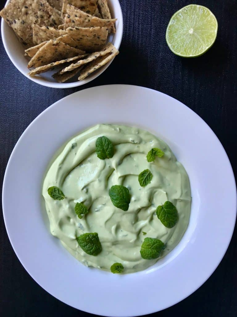 Avocado, Yoghurt and Mint Dip - It's Not Complicated Recipes #dip #sides #avocado #vegetarian