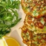 Pea and Mint Fritters
