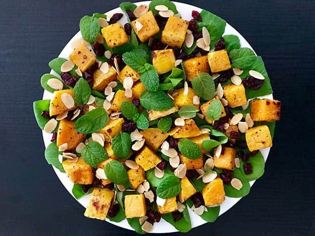 Pumpkin Cranberry Almond Salad