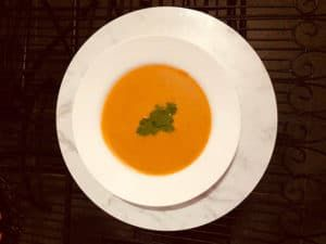 Spiced Pumpkin and Sweet Potato Soup