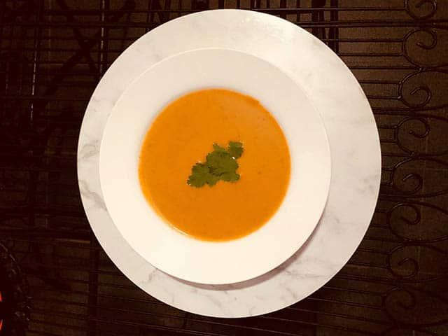 Spiced Pumpkin and Sweet Potato Soup