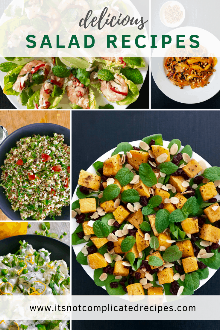 Delicious Salad Recipes - It's Not Complicated Recipes #salad #saladrecipes #healthyrecipes #sides #entree #starters #easyrecipes