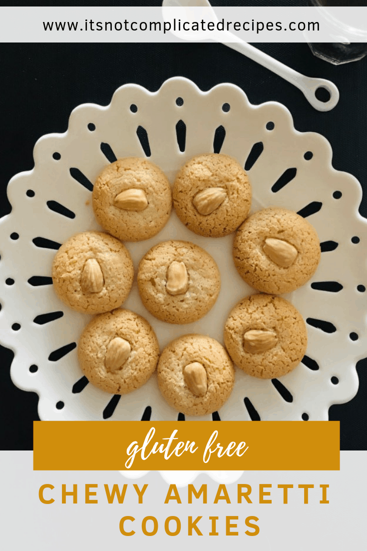 Gluten Free Amaretti Cookies - It's Not Complicated Recipes #cookies #amaretti #easyrecipes #dessert #sweettreats #amaretticookies #glutenfree