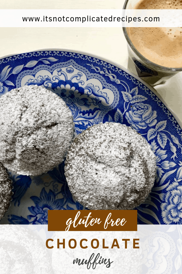 Gluten Free Chocolate Muffins - It's Not Complicated Recipes #chocolate #muffins #chocolatemuffins #chocolaterecipes #glutenfree #dessert