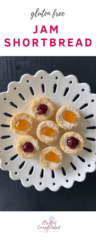 Gluten Free Jam Shortbread - It's Not Complicated Recipes #jam #shortbread #tarts #dessert #easyrecipes #entertaining #partyfood #glutenfree