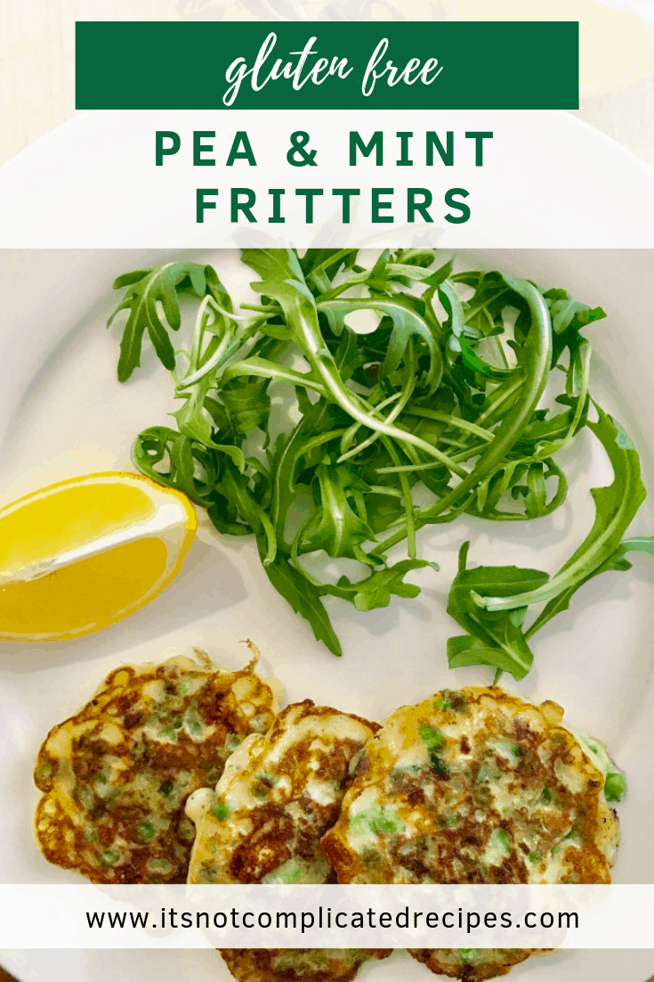 Gluten Free Pea and Mint Fritters - It's Not Complicated Recipes #glutenfree #fritters #pea #mint #starters #entree