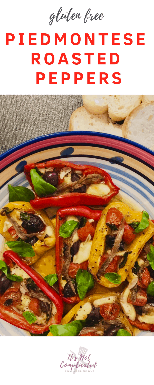Gluten Free Piedmontese Roasted Peppers - It's Not Complicated Recipes #peppers #roastedvegetables