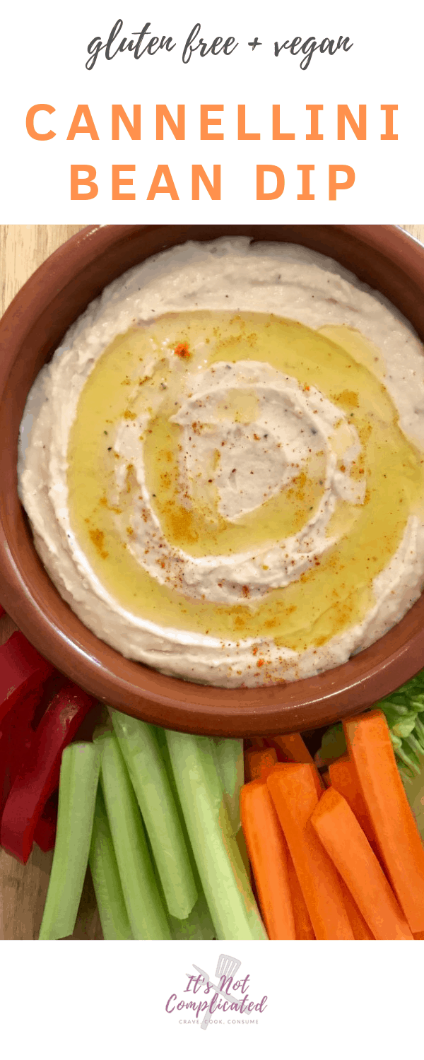 Cannellini Bean Dip - It's Not Complicated Recipes #dip #bean #cannellini #sides #partyfood #vegetarian #glutenfree #vegan