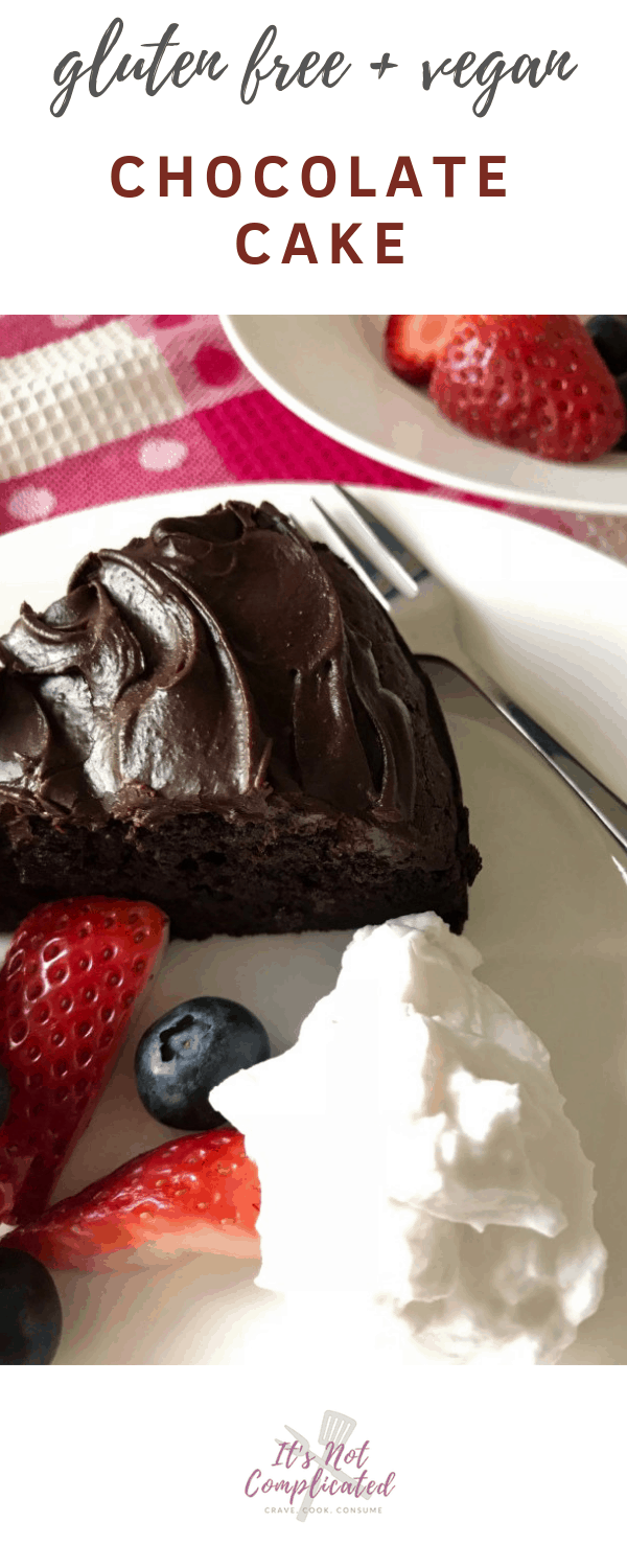 Gluten Free and Vegan Chocolate Cake - It's Not Complicated Recipes #vegan #cake #glutenfree #vegancake #veganchocolate #easycakerecipes