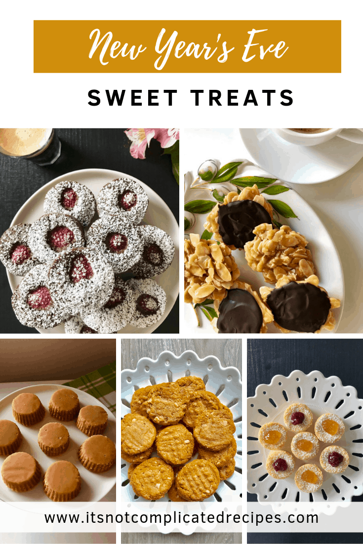 Sweet Treats for New Years Eve - It's Not Complicated Recipes #newyear #desserts #sweettreats #cakes #biscuits #cookies #tarts #bites #partyfood