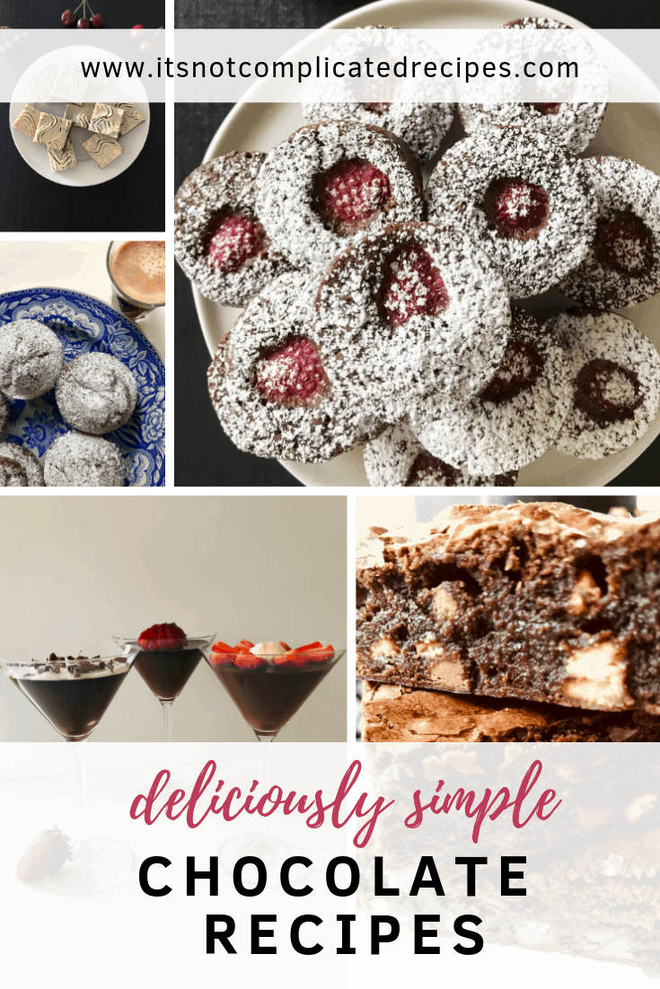 Deliciously Simple Chocolate Recipes - It's Not Complicated Recipes #valentinesday #chocolate #chocolaterecipes #deliciousrecipes #chocolate #chocolatedesserts #partyfood