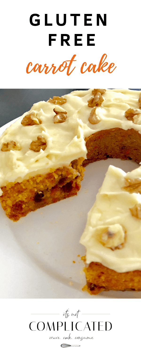 Gluten Free Carrot Cake - It's Not Complicated Recipes #glutenfree #cake #carrotcake #cakerecipes #glutenfreerecipes #desserts #partyfood #sweettreats