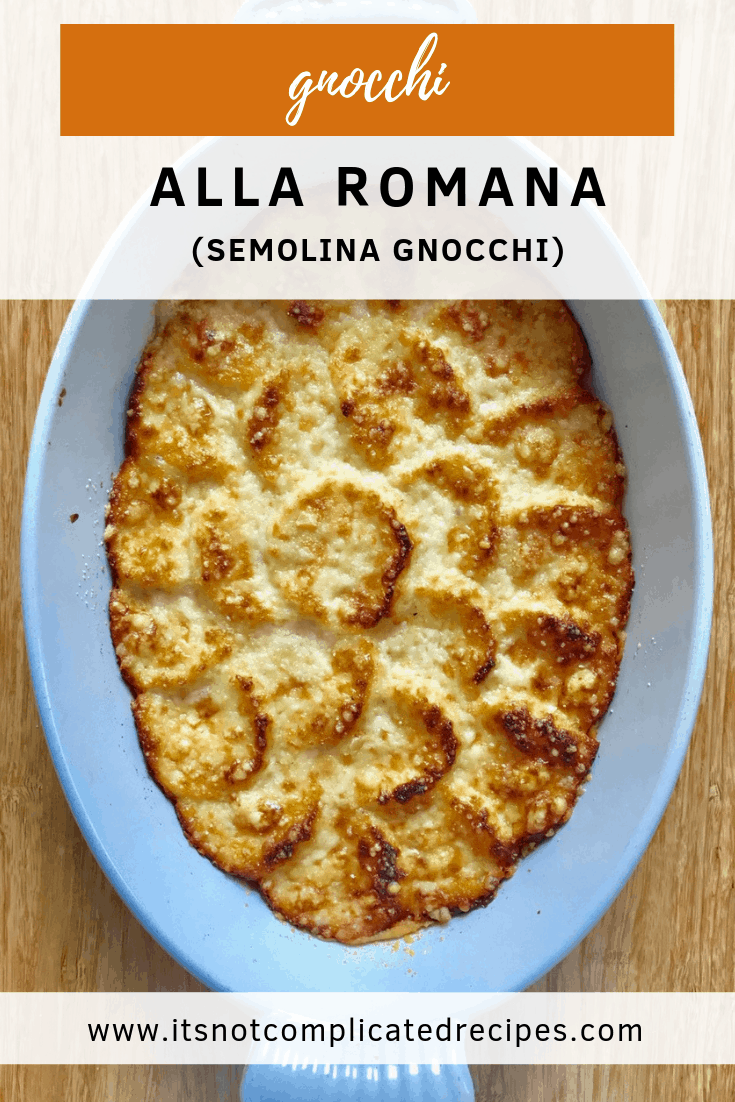Gnocchi Alla Romana - It's Not Complicated Recipes #gnocchi #italian #italianrecipes #semolina #sidedishes #sides #vegetarian #comfortfood