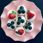 Mini Meringues with Berries and Cream. A recipe by It's Not Complicated Recipes.