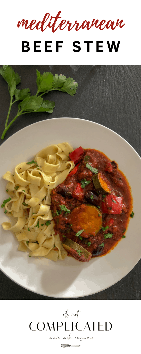Mediterranean Beef Stew - It's Not Complicated Recipes #stew #mediterranean #beefstew #glutenfree #maincourse #easyrecipes