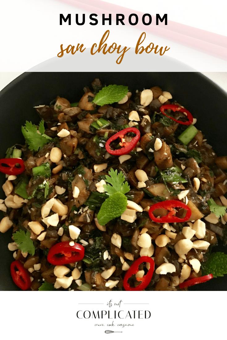 Mushroom San Choy Bow - It's Not Complicated Recipes #glutenfree #vegetarian #easyrecipes #vegetarianrecipes #meatfree #healthyrecipes