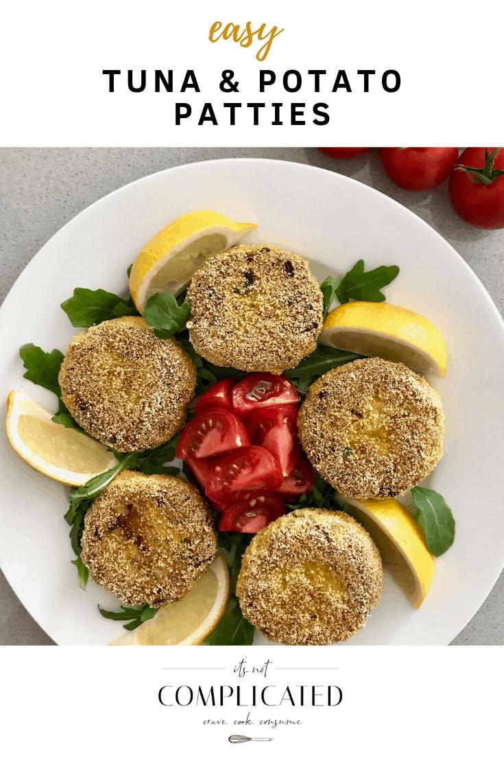 Easy Tuna and Potato Patties - It's Not Complicated Recipes #easy #tuna #patties #potato #appetisers #salad