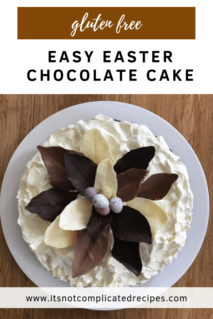 Gluten Free Easy Easter Chocolate Cake - It's Not Complicated Recipes #chocolate #cake #chocolatecake #easter #easterrecipes #easyeasterrecipes #glutenfree