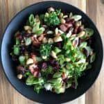 Broccoli, Cashew and Bacon Salad
