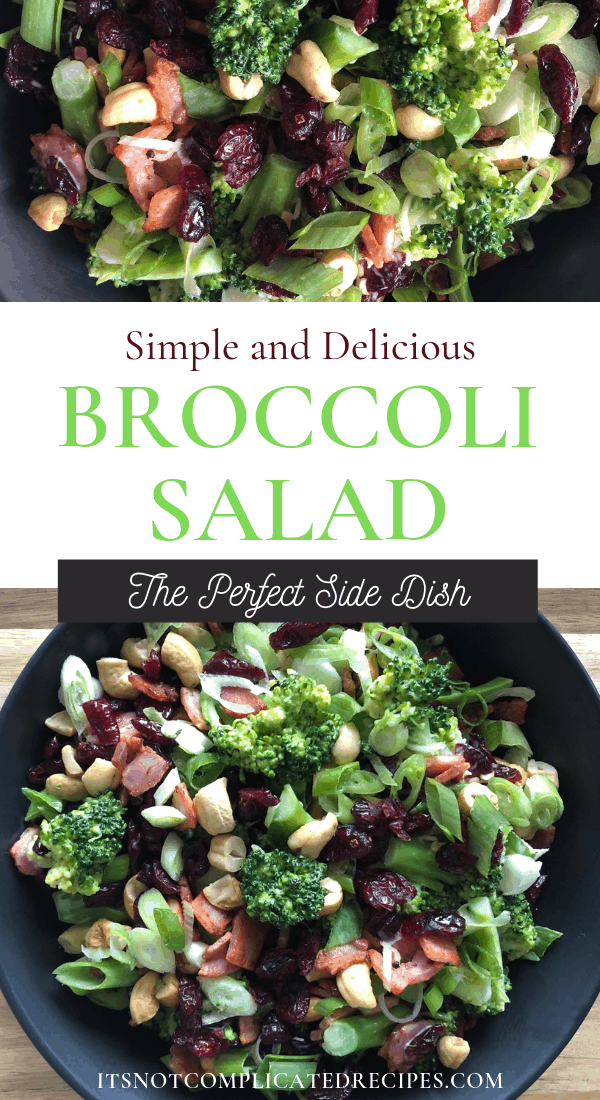 Broccoli, Bacon and Cashew Salad - It's Not Complicated Recipes #itsnotcomplicatedrecipes #broccoli #simplerecipes #salads #glutenfree #potluckdishes #sidedishes