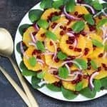 Orange, Spinach and Pomegranate Salad. A recipe by It's Not Complicated Recipes.