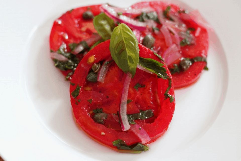 Marinated Tomato Salad. A recipe by It's Not Complicated Recipes.