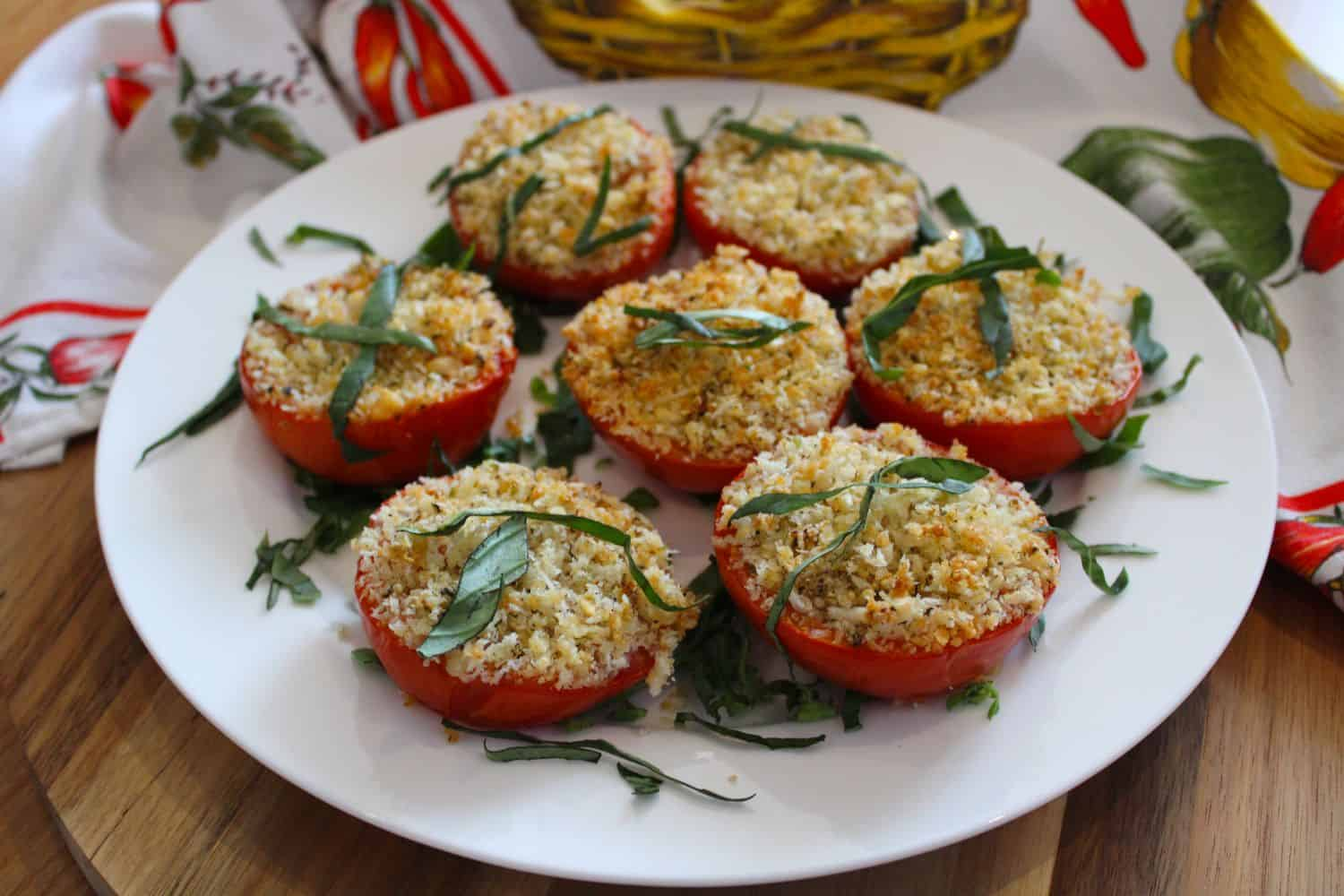 Crispy Baked Parmesan Tomatoes. A recipe by It's Not Complicated Recipes.