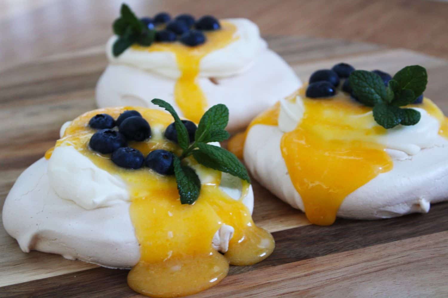 Individual Lemon Curd Meringues. A recipe by It's Not Complicated Recipes.