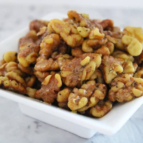 Salt and Pepper Roasted Walnuts. A recipe by It's Not Complicated Recipes.
