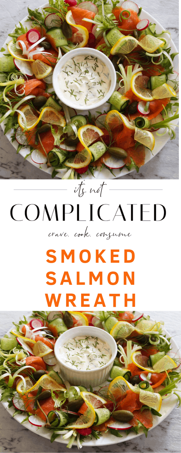 Smoked Salmon Wreath. A recipe by It's Not Complicated Recipes.