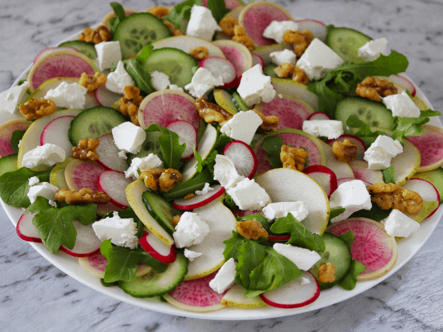 Radish, Feta and Cucumber Salad. A recipe by It's Not Complicated Recipes.