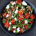 Chargrilled Asparagus with Feta and Mint. A recipe by It's Not Complicated Recipes.
