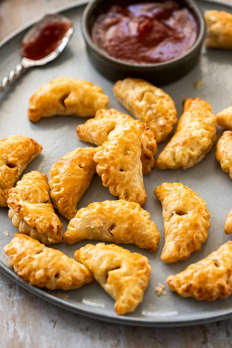 Mini Bacon and Onion Pasties. A recipe by It's Not Complicated Recipes.