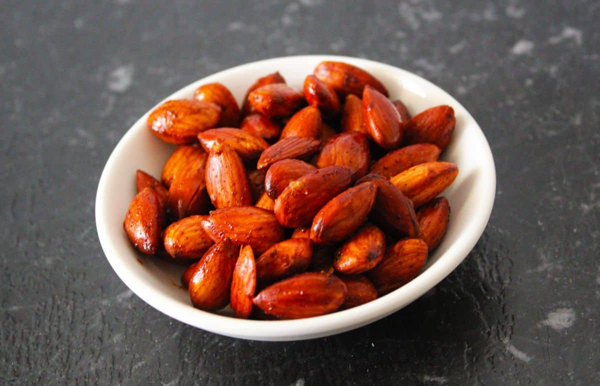 Spicy Roasted Almonds. A recipe by It's Not Complicated Recipes.