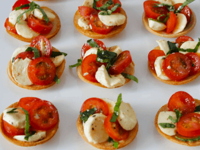 Caprese Bread Tartlets. A recipe by It's Not Complicated Recipes.