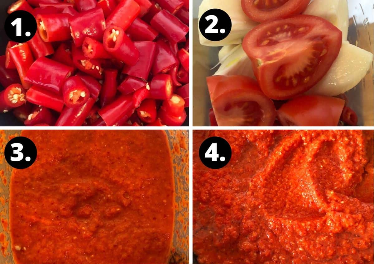 first four steps to make this recipe.
