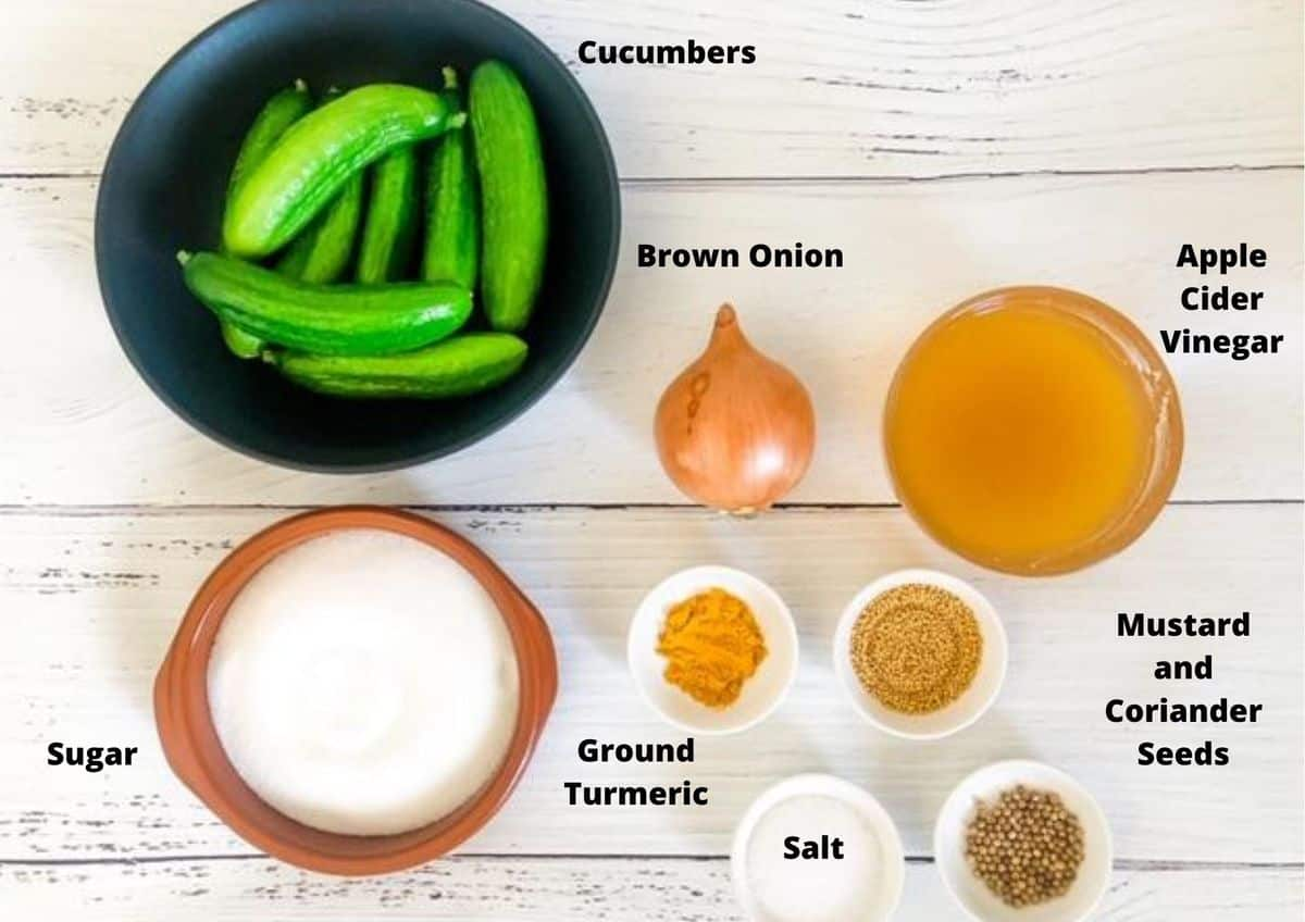ingredients in this recipe, set on a white background.