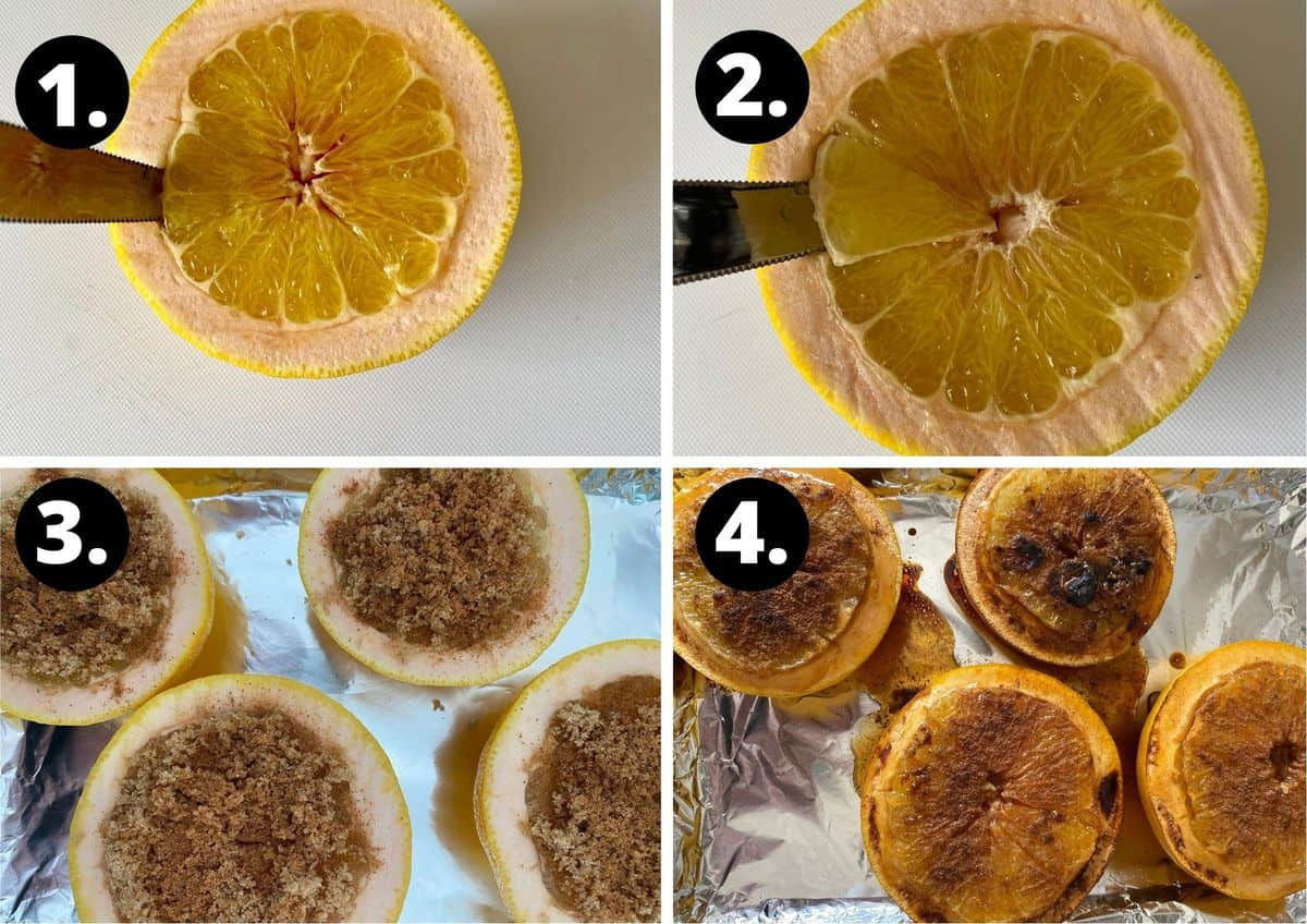 the four steps required to make this recipe.