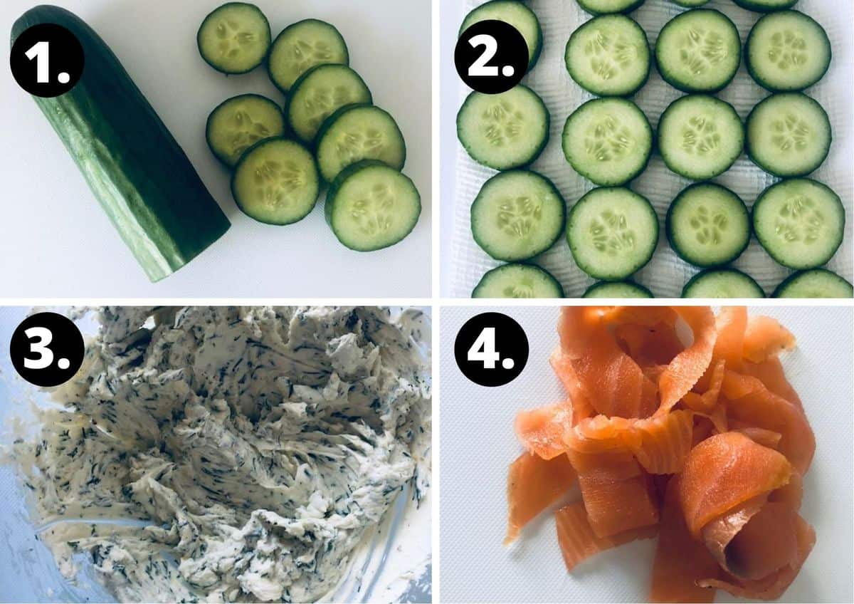 the four steps to prepare this recipe.