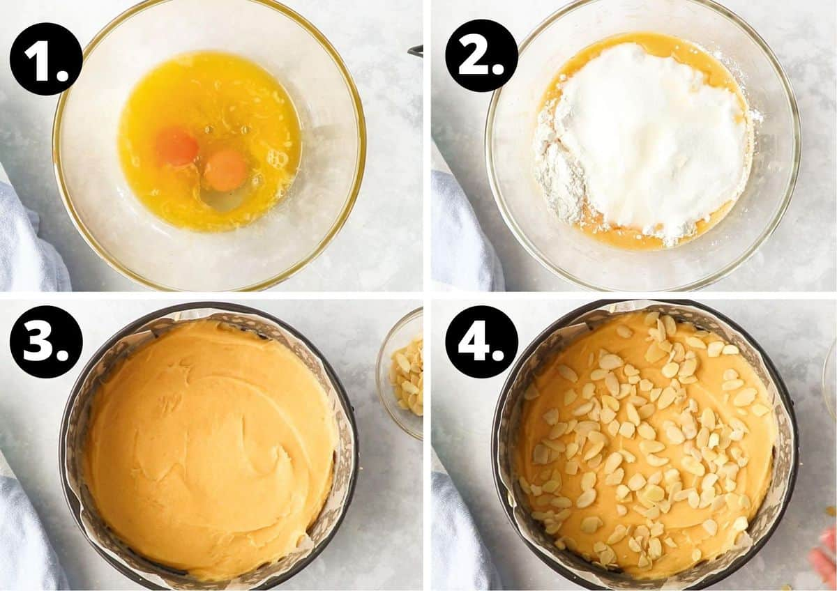 The four steps required to prepare this recipe.