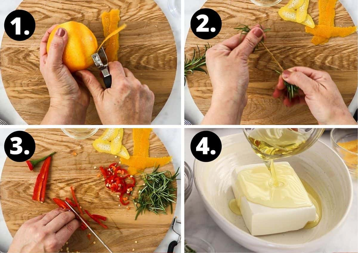 the first four steps in this recipe.