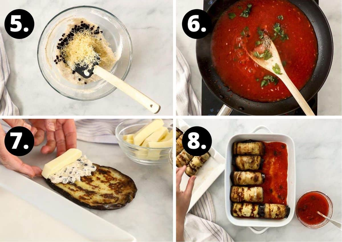 the final four steps to prepare this recipe.
