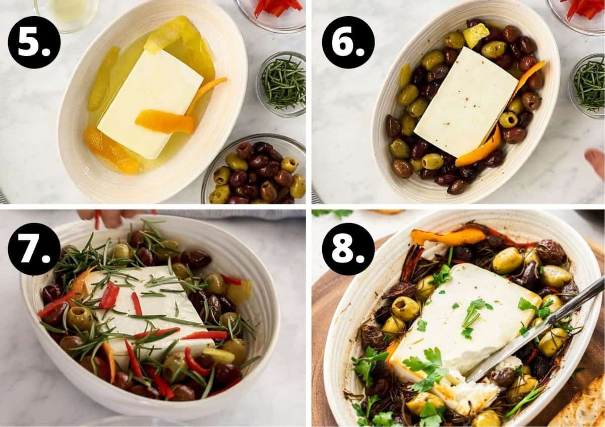 the final four steps in preparing this recipe.