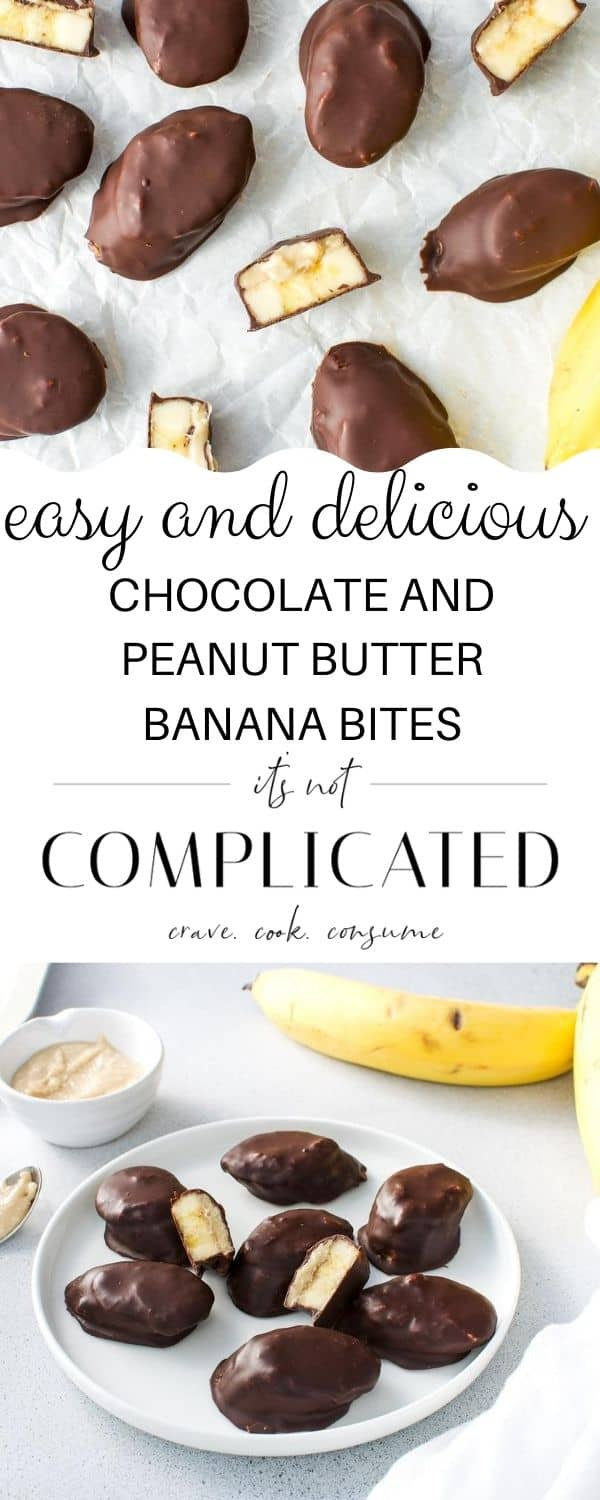 Pinterest image with two images of recipe top and bottom and text overlay in the centre.