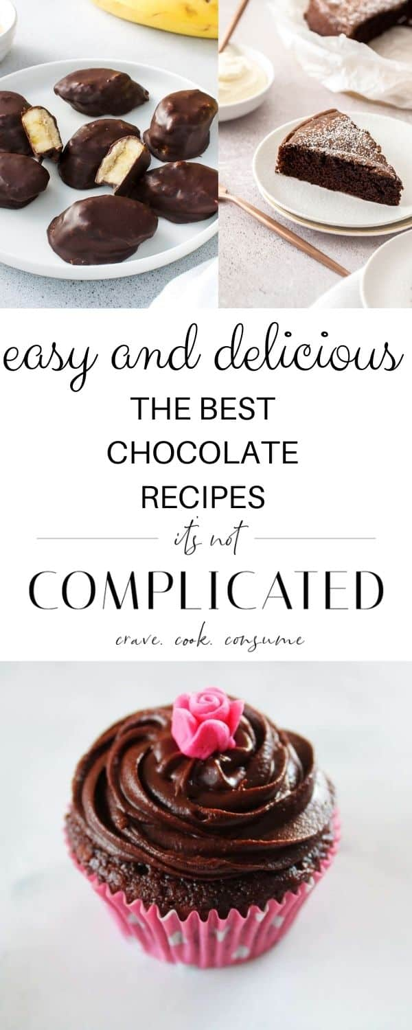 pinterest image with photos of recipes top and bottom and text overlay in centre.